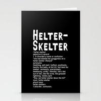 Helter Skelter (white On… Stationery Cards