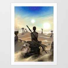 StarWars - Rey Art Print