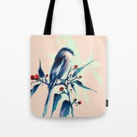 Hashtag Blue Bird Tote Bag