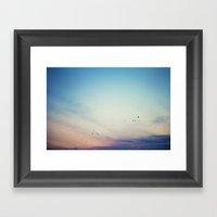 sunset flight Framed Art Print
