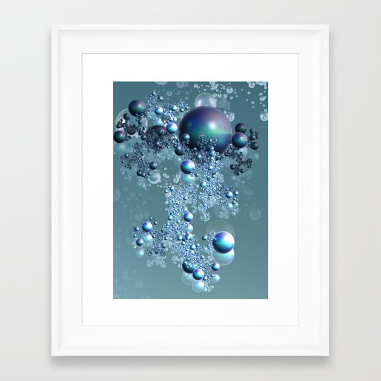 Bubbles 5 Framed Art Print