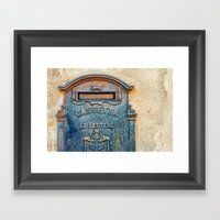 Italian Mailbox Framed Art Print