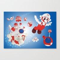 Super Fly Skull Mario Canvas Print