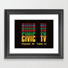 CIVIC TV Framed Art Print