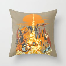 Smash! Zap!! Zooom!! - Butt-Chinned Captain Throw Pillow