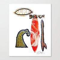 Surf Design Canvas Print