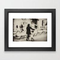 Barcelona Bicing Framed Art Print