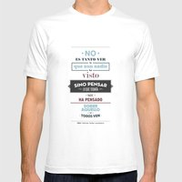 No Es Tanto Ver Mens Fitted Tee White SMALL