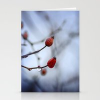 Red drop. Autumn dreams Stationery Cards