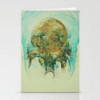 Moon Talking Nebula  Stationery Cards
