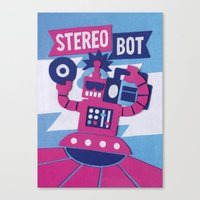 Stereo Bot Canvas Print