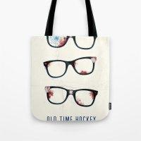 Slapshot - Old Time Hockey Tote Bag