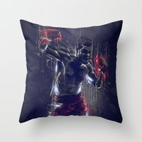 DARK BOXING Throw Pillow