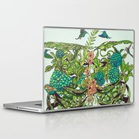 green Laptop & iPad Skins featuring Daydreamer by Huebucket