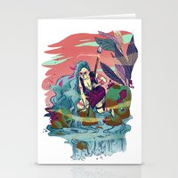 The Furious River Goddes… Stationery Cards