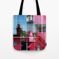 Lighthouse At Holland Pa… Tote Bag