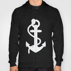 White Anchor Hoody