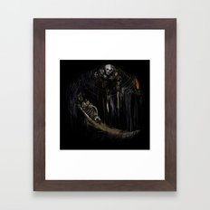 Gravelord Nito - Dark Souls (black tee PNG edition) Framed Art Print
