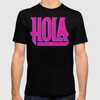 Hola Mens Fitted Tee Black SMALL