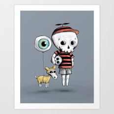 Skull Kid Art Print