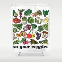 Eat Your Veggies! Shower Curtain