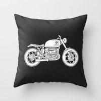 BMW R80 - Cafe Racer Ser… Throw Pillow