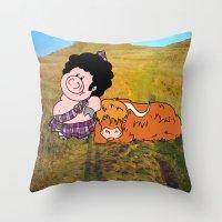 The highlander Throw Pillow