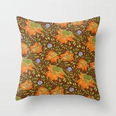 Green bird pattern Throw Pillow