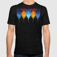 Navajo Fire & Ice Mens Fitted Tee Tri-Black SMALL