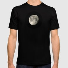 moon glow SMALL Black Mens Fitted Tee