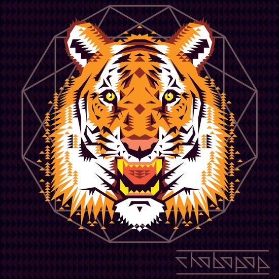 Geometric Tiger Canvas Print