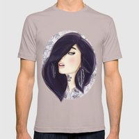 Dark Mens Fitted Tee Cinder SMALL