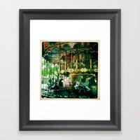 One Of Many Carousels In… Framed Art Print