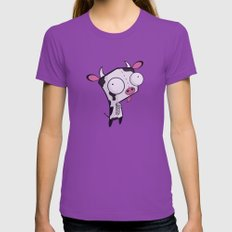 Cow Gir Womens Fitted Tee Ultraviolet SMALL