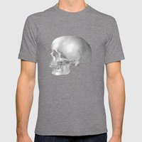 Human Skull Mens Fitted Tee Tri-Grey SMALL