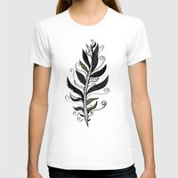 feather T-shirts featuring FEATHER by Nika
