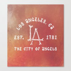 The City of Angels Canvas Print