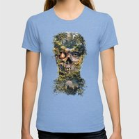 The Gatekeeper Surreal D… Womens Fitted Tee Tri-Blue SMALL