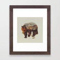 Wild Grizzly Bear Framed Art Print
