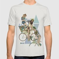 Bike Girls Mens Fitted Tee Silver SMALL