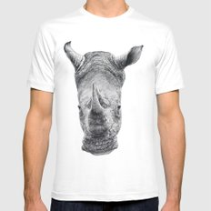 Rhino Mens Fitted Tee SMALL White