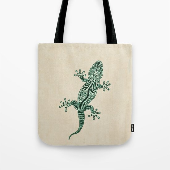 Ornate Lizard Tote Bag