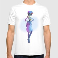 Pin Up Mens Fitted Tee White SMALL