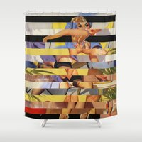 Glitch Pin-Up Redux: Courtney Shower Curtain