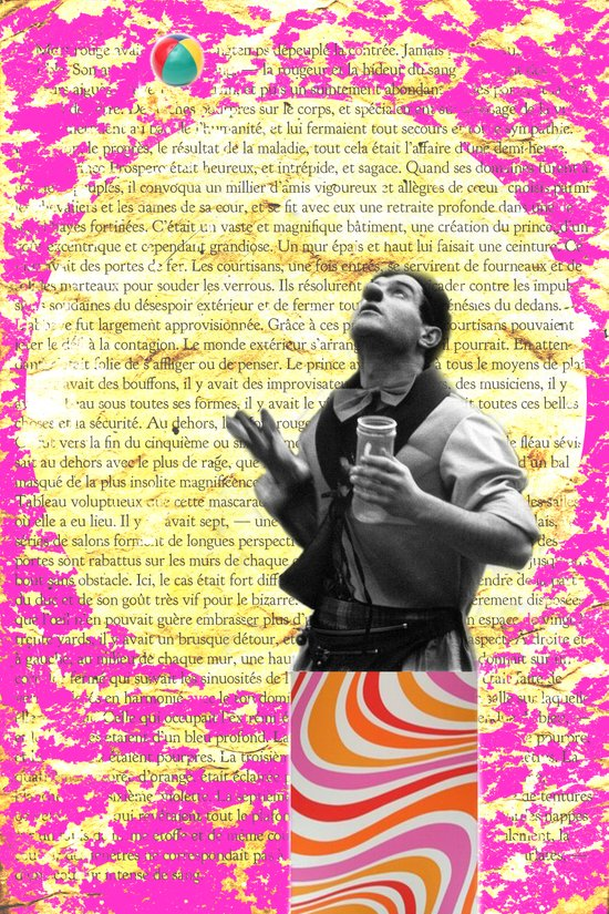 COLLAGE LOVE - the juggler Art Print