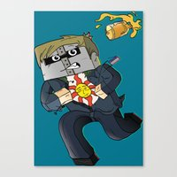 Solaire Of Block - Minec… Canvas Print