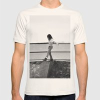 Lost Mens Fitted Tee Natural SMALL
