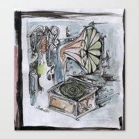 phonographic Canvas Print