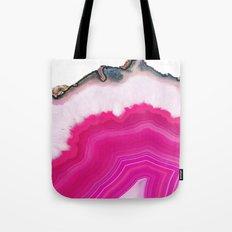 Pink Agate Slice Tote Bag
