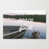 Peace & Quiet Canvas Print